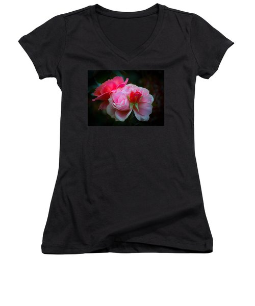 Women's V-Neck T-Shirt (Junior Cut) featuring the photograph Maiden Mother Crone by Patricia Babbitt