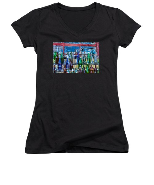 Maine Bottle Collector Women's V-Neck T-Shirt