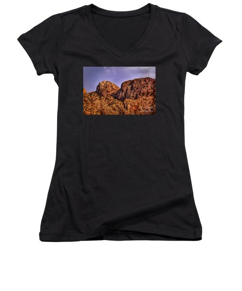 Women's V-Neck T-Shirt (Junior Cut) featuring the photograph Majestic 15 by Mark Myhaver