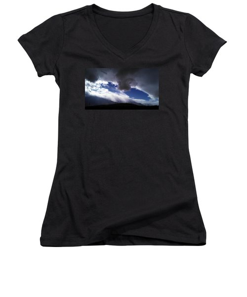 Women's V-Neck T-Shirt (Junior Cut) featuring the photograph Majestic by Chris Tarpening