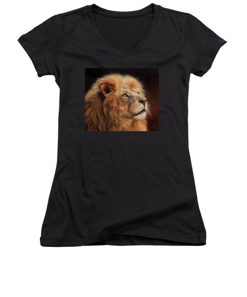 Majestic Lion Women's V-Neck T-Shirt