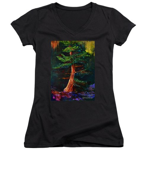 Majestic Pine Women's V-Neck (Athletic Fit)