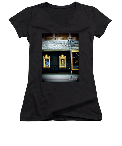 Majestic Theatre Lightpost Women's V-Neck (Athletic Fit)