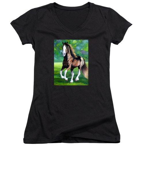 Majestic Women's V-Neck T-Shirt (Junior Cut) by Vivien Rhyan
