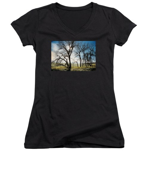 Make A Stand Women's V-Neck (Athletic Fit)