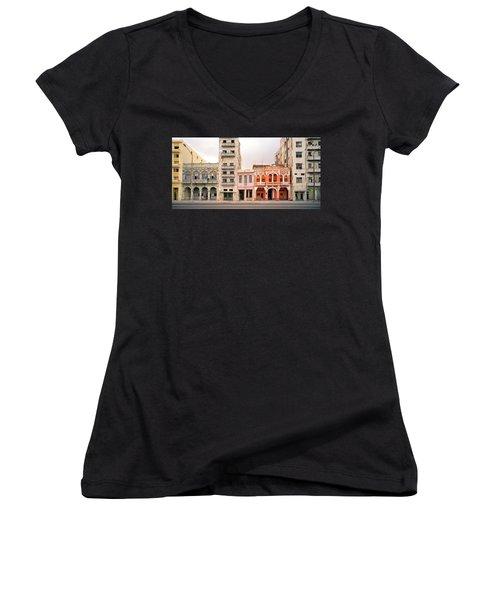 Malecon In Havana Women's V-Neck T-Shirt