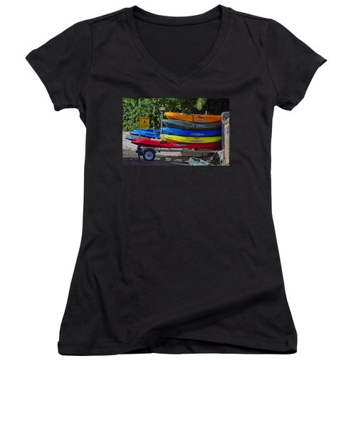Malibu Kayaks Women's V-Neck (Athletic Fit)