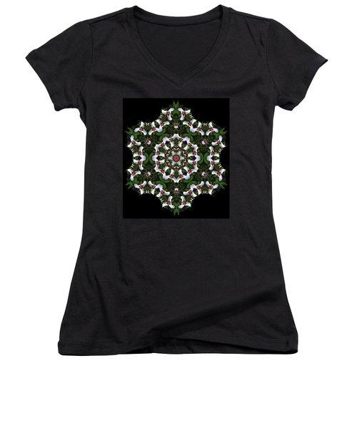 Mandala Trillium Holiday Women's V-Neck