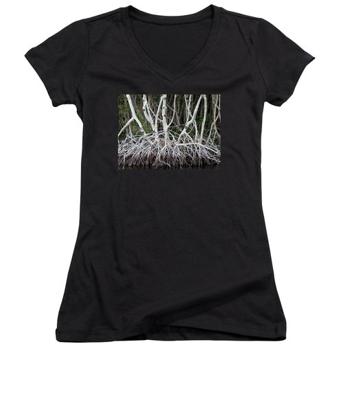 Mangrove Roots Women's V-Neck (Athletic Fit)