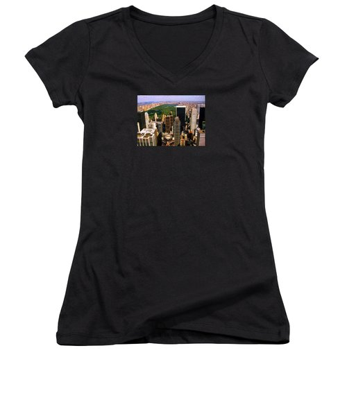 Manhattan And Central Park Women's V-Neck (Athletic Fit)