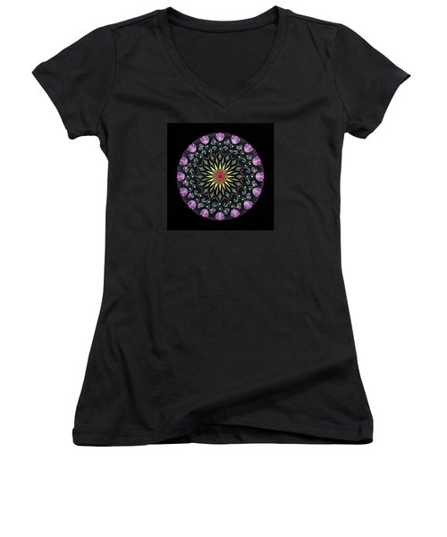 Manifestation Women's V-Neck T-Shirt (Junior Cut) by Keiko Katsuta