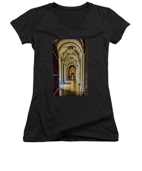 Mansion Hallway Women's V-Neck T-Shirt