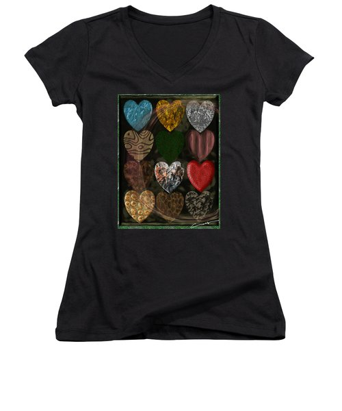 Many Types Of Love Women's V-Neck T-Shirt