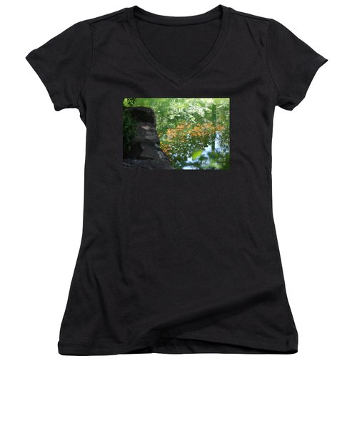 Maple Reflections Women's V-Neck (Athletic Fit)