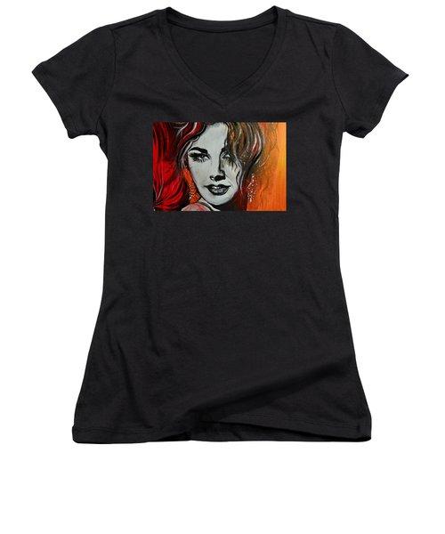Mara Women's V-Neck T-Shirt (Junior Cut) by Sandro Ramani