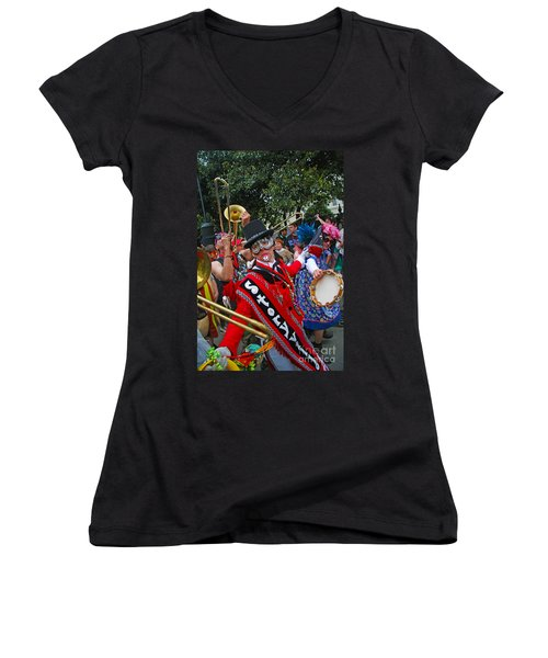 Mardi Gras Storyville Marching Group Women's V-Neck (Athletic Fit)