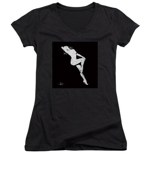 Marilyn Monroe The Lightning Women's V-Neck T-Shirt