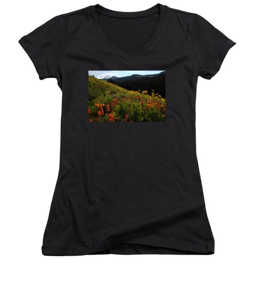 Maroon Bells Wilderness Women's V-Neck (Athletic Fit)