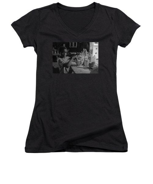 Mask Maker Women's V-Neck T-Shirt