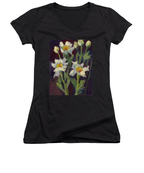 Matilija Poppies Women's V-Neck