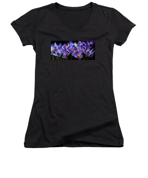 Mauve Women's V-Neck T-Shirt