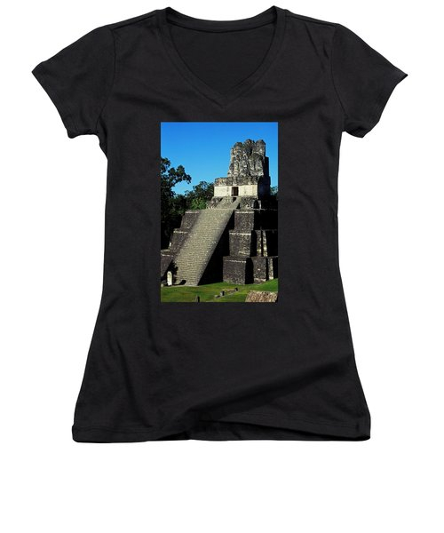 Mayan Ruins - Tikal Guatemala Women's V-Neck