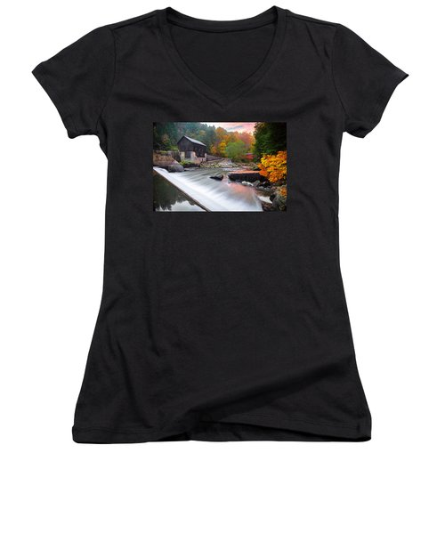 Mcconnell's Mill Fall  Women's V-Neck