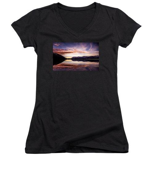 Mcdonald Palette Women's V-Neck T-Shirt (Junior Cut) by Aaron Aldrich