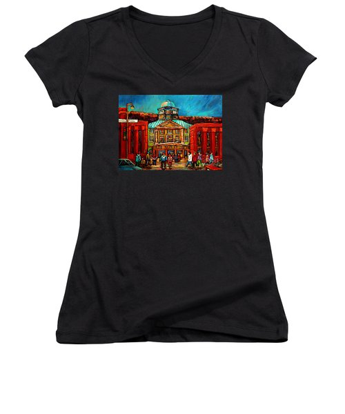 Mcgill Gates Montreal Women's V-Neck T-Shirt