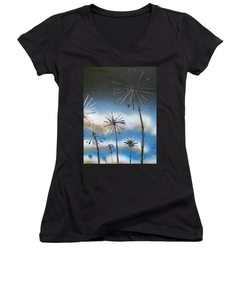 Meadow At Dawn Women's V-Neck (Athletic Fit)