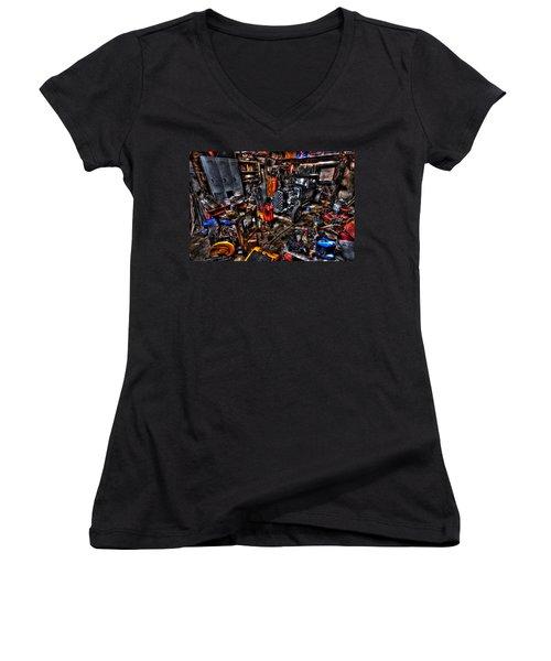 Mechanics Garage Women's V-Neck T-Shirt