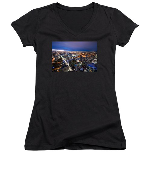 Melbourne At Night Women's V-Neck