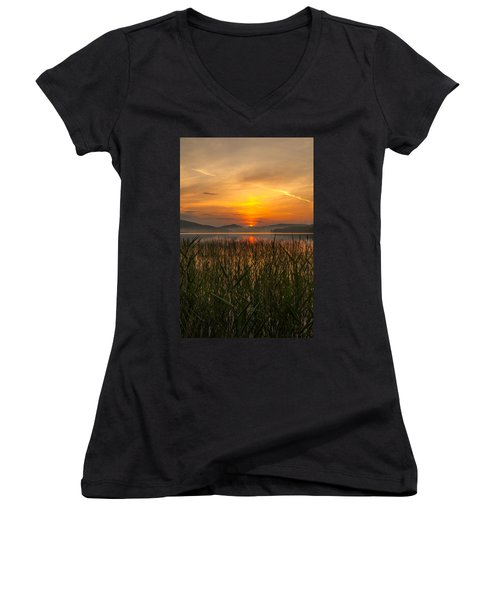 Women's V-Neck T-Shirt (Junior Cut) featuring the photograph Peace Of Mind by Rose-Maries Pictures