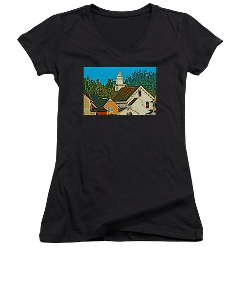 Mendocino California Women's V-Neck