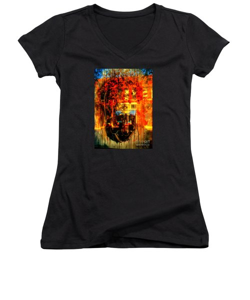 Mental Void Women's V-Neck T-Shirt (Junior Cut) by Kelly Awad