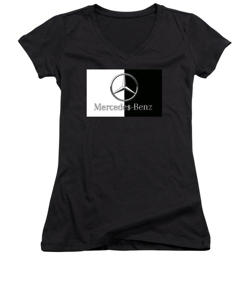 Mercedes-benz Logo Women's V-Neck (Athletic Fit)
