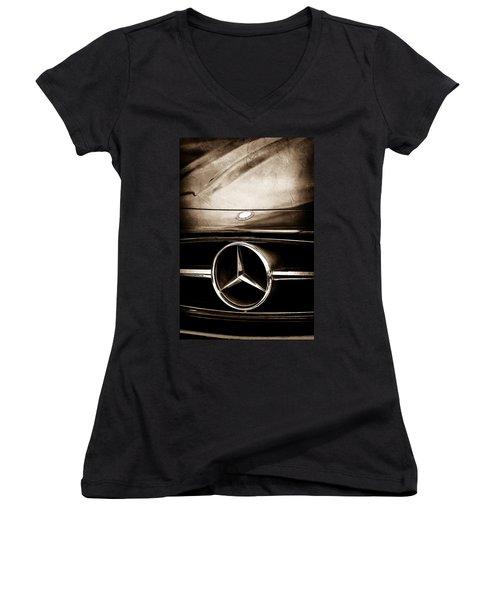 Mercedes-benz Grille Emblem Women's V-Neck