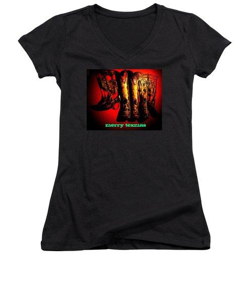 Merry Texmas Women's V-Neck T-Shirt
