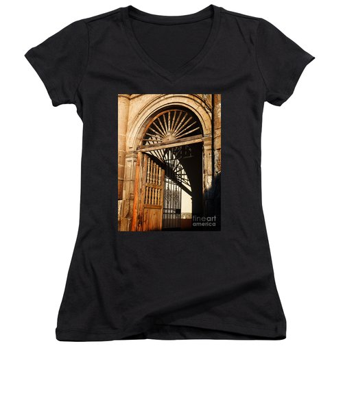 Mexican Door 27 Women's V-Neck (Athletic Fit)