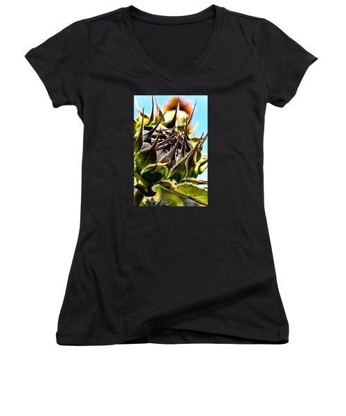 Mexican Sunflower Women's V-Neck (Athletic Fit)