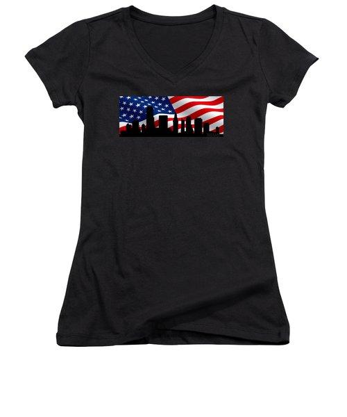 Miami Skyline Women's V-Neck T-Shirt