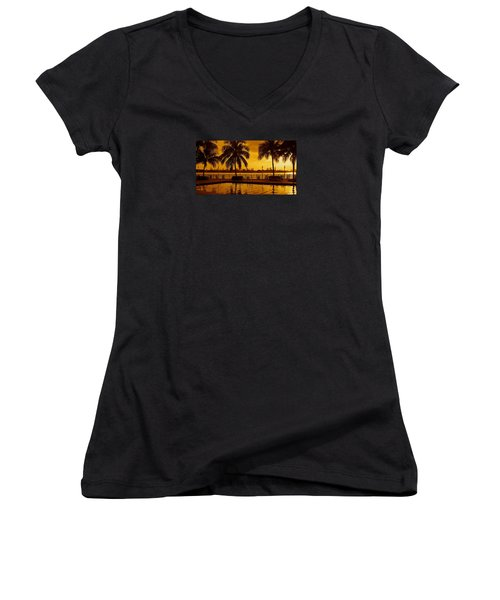 Miami South Beach Romance Women's V-Neck