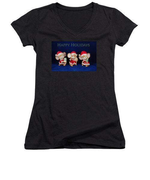 Mice Holiday Women's V-Neck T-Shirt