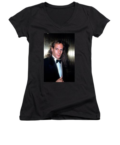 Michael Bolton 1990 Women's V-Neck T-Shirt