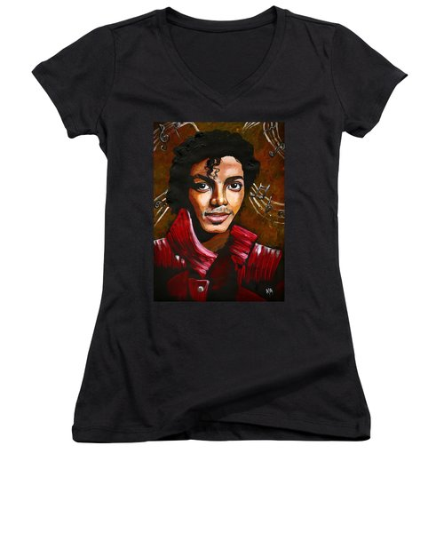 Michael Jackson Women's V-Neck