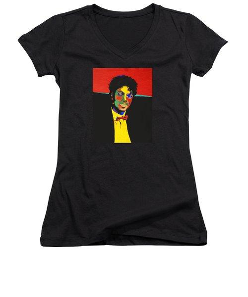 Michael Jackson Women's V-Neck T-Shirt