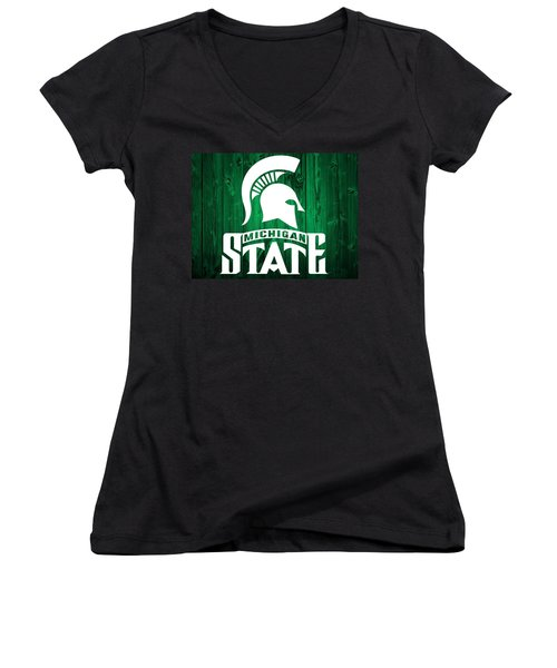 Michigan State Barn Door Women's V-Neck T-Shirt