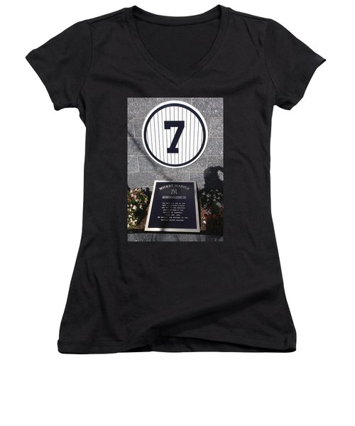 Mickey Mantle Women's V-Neck