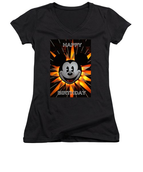 Mickey Mouse Women's V-Neck (Athletic Fit)