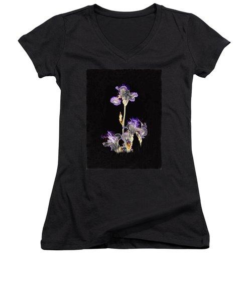 Midnight Iris Women's V-Neck